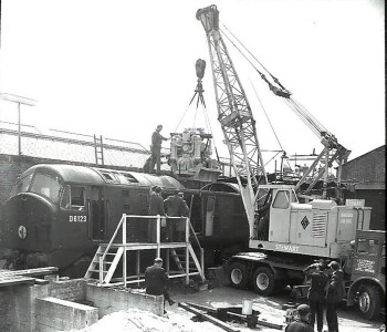 D6123 re-engining at Britannia Works