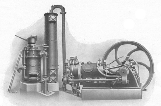 Size K gas engine and producer