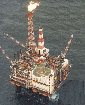 Magnus North Sea Oil Platform